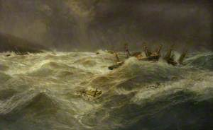 During the Hurricane at Apia, 1889
