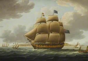 The Ship 'Ville de Paris' under Full Sail