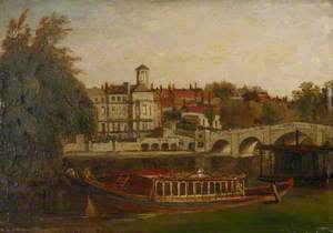 A City Livery Company Barge on the Thames at Richmond
