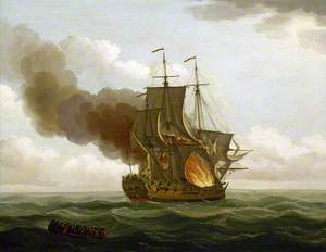 The 'Luxborough' Galley on Fire, 25 June 1727