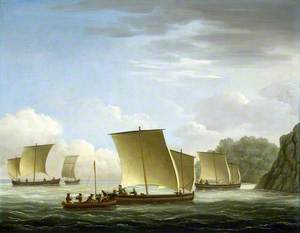 The Yawl of the 'Luxborough' Galley Arriving in Newfoundland, 7 July 1727