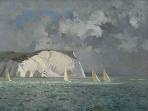 Yachts off the Needles, Isle of Wight