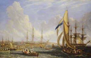 The 'Bellerophon' with Napoleon Aboard at Plymouth (26 July–4 August 1815)