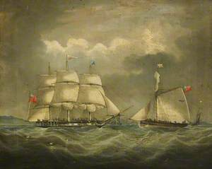 The Barque 'Iris' at Sea