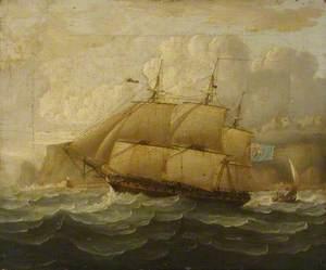 HMS 'Leander' at Sea