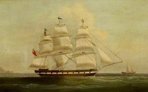 The Blackwall Frigate 'Maidstone' at Sea
