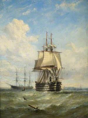 HMS 'Marlborough' and 'Minotaur'