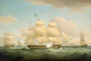 The East Indiamen 'Minerva', 'Scaleby Castle' and 'Charles Grant'