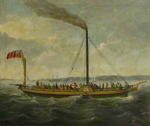 The Paddle Steamer 'British Queen'