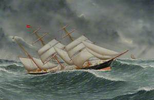 The Barque 'Camphill' in a Rough Sea