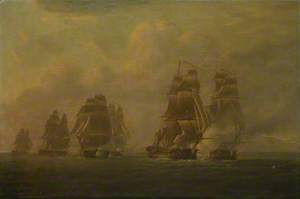 The 'Anson's' Escape from Five Frigates, 12 October 1798