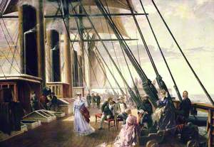A Deck Scene on the 'Great Eastern'
