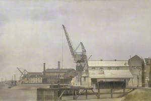 Hollick's Wharf on the Blackwall Reach of the Thames, Greenwich