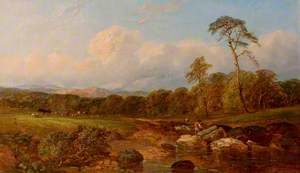 Landscape with Men and Cattle