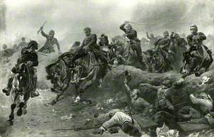 British Artillery Entering the Enemy's Lines at Tel-el-Kebir, Egypt, 13 September 1882