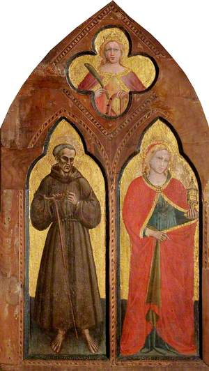 Blessed Gerard of Villamagna and Saint Mary Magdalen with Saint Catherine of Alexandria