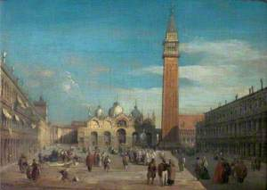 The Piazza, San Marco, Venice (View of the Piazza of San Marco and the Campanile)