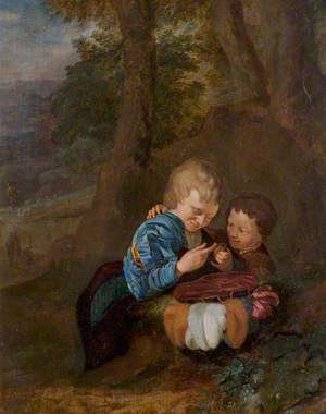 Two Boys with a Bird (The Birdcatchers)