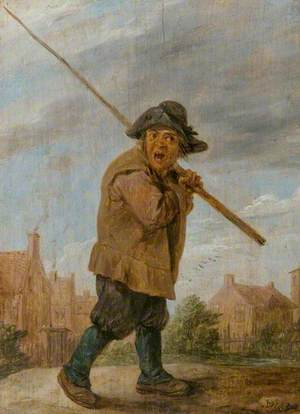 A Peasant Carrying a Pole