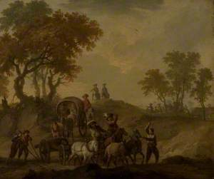 Landscape with Baggage Wagon