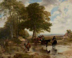 Market Cart at a Brook
