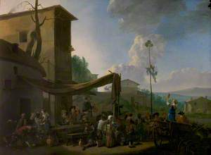 A Village Festival, Peasants Merrymaking Outside an Inn