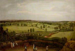 Nottingham Meadows from the Rock Cliff, Where Lenton Road Turns into Park Valley (Nottingham Park from Castle Rock)