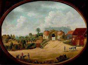 View of the Ancient Gateway and Castle, Nottingham