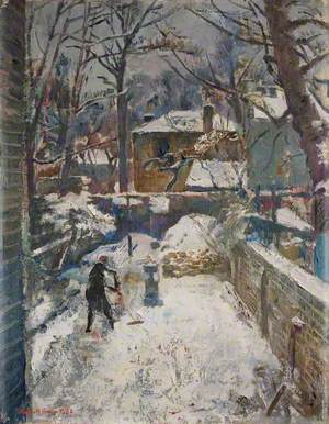 Chelsea Garden under Snow (The Black Spider)