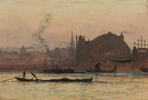 The Thames near Charing Cross, London