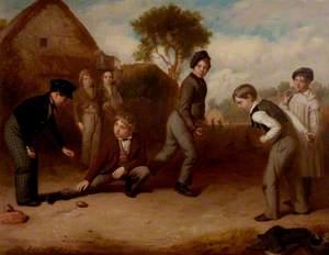 Boys Playing Duckstones