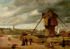 Landscape with a Windmill, St Malo, France
