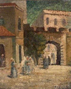 Inside New Gate, Jerusalem, Palestine