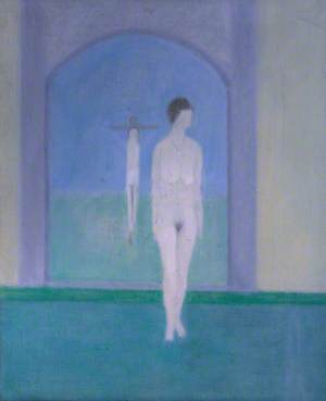Nude Standing in front of a Picture
