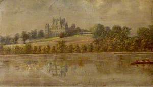 Wollaton Hall, Nottingham, from the Lake