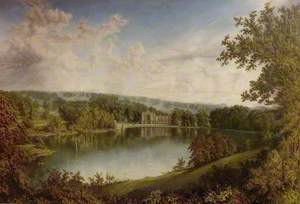 Newstead Abbey, Nottinghamshire, from the Upper Lake