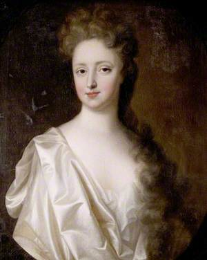 Portrait of a Young Woman in White Satin
