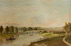 Old Trent Bridge Steamer and Figures