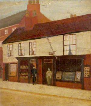 Arnfield's Book and Paper Shop, Smedley's Barber's Shop, Carolgate, Retford, Nottinghamshire