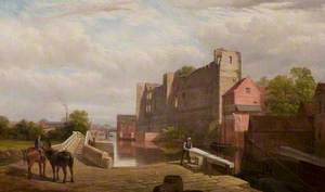 View of the River Trent and the Old Pack Horse