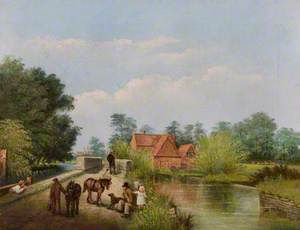 Longstone Bridge and Watermill, Derbyshire