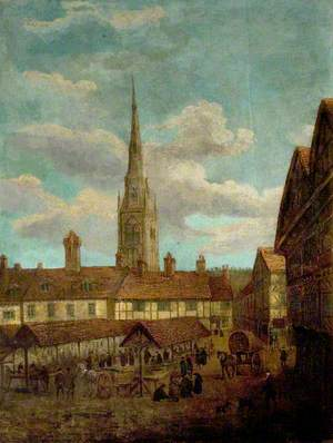 View of Market Place, Newark, Nottinghamshire