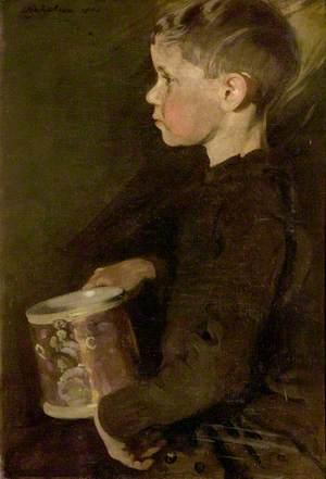 Boy with the Caroline Mug