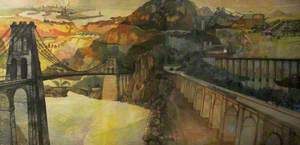 Composite Painting of the Works of Thomas Telford