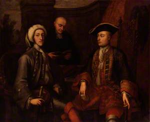 John Montagu, 2nd Duke of Montagu, James O'Hara, 2nd Baron Tyrawley, and an unknown man