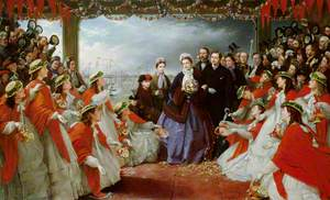 The Landing of HRH The Princess Alexandra at Gravesend, 7th March 1863