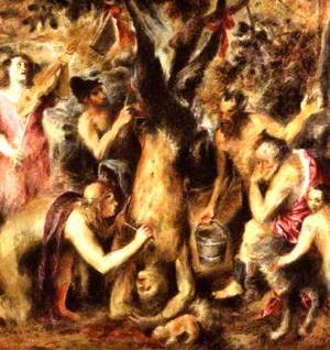 Study of 'The Flaying of Marsyas'