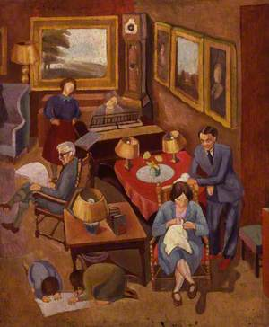 Ramsay MacDonald with members of his family (includes Peggy Angus; Ishbel Allan MacDonald (Mrs Peterkin); Malcolm John MacDonald; Ramsay MacDonald)