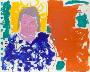 A. S. Byatt (Portrait of A S Byatt : Red, Yellow, Green and Blue : 24 September 1997)