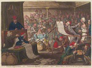 Patriotic Regeneration – Parliament Reform'd, a la François, that is, Honest Men (i.e. Opposition) in the Seat of Justice